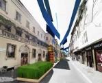 4-11 maggio: un campo di lino in Via Montenapoleone